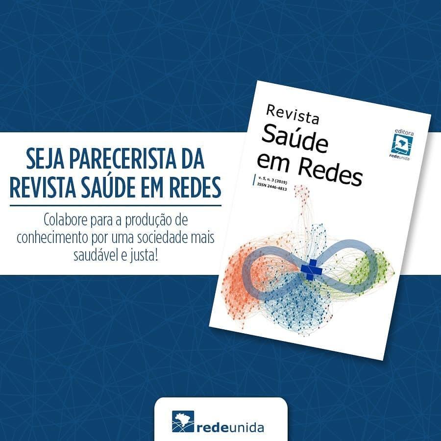 Seja parecerista na Revista Saúde em Redes e colabore para produção de conhecimento!